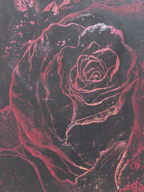 Red Rose Original Painting