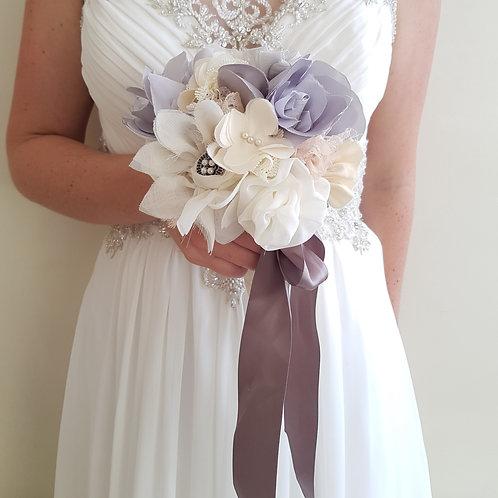 Handmade Wedding Bouquet - Dove Grey