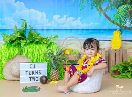 Hawaiian Beach Themed Prebirthday Photos