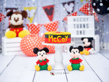 MC Coy Prebirthday Photos - Mickey Mouse Themed