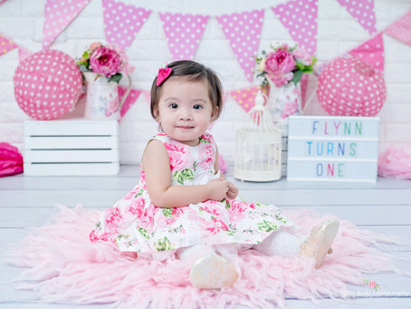 Simply Pink Prebirthday Themed Baby Photos