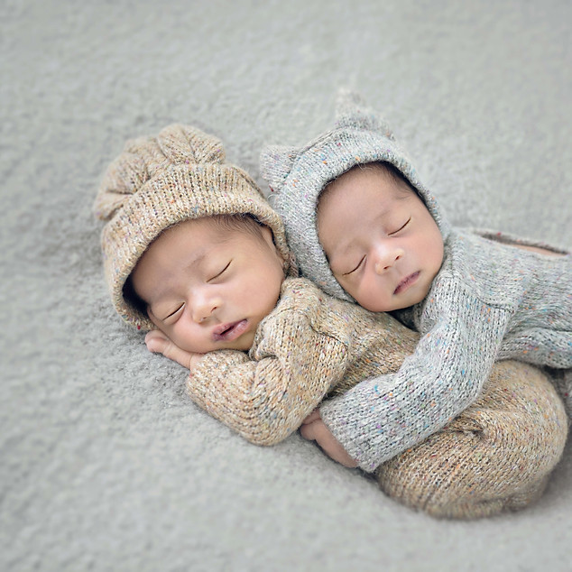 Newborn Twins Portrait