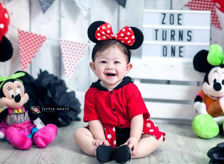 Minnie Mouse Prebirthday Themed Photos