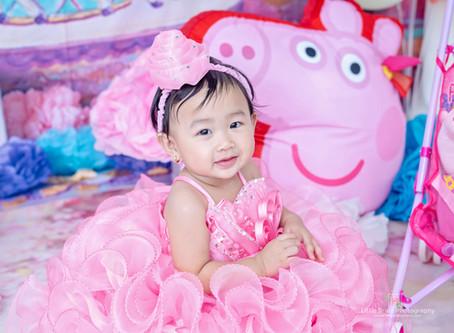 Peppa Pig Prebirthday Themed Photos