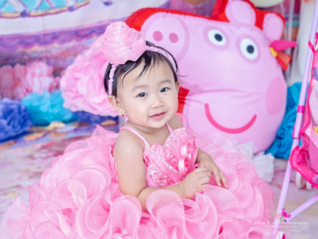 Peppa Pig Prebirthday Themed Photos