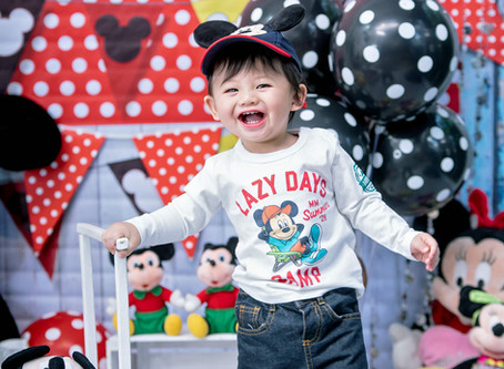 Mickey Mouse Prebirthday Themed Photos