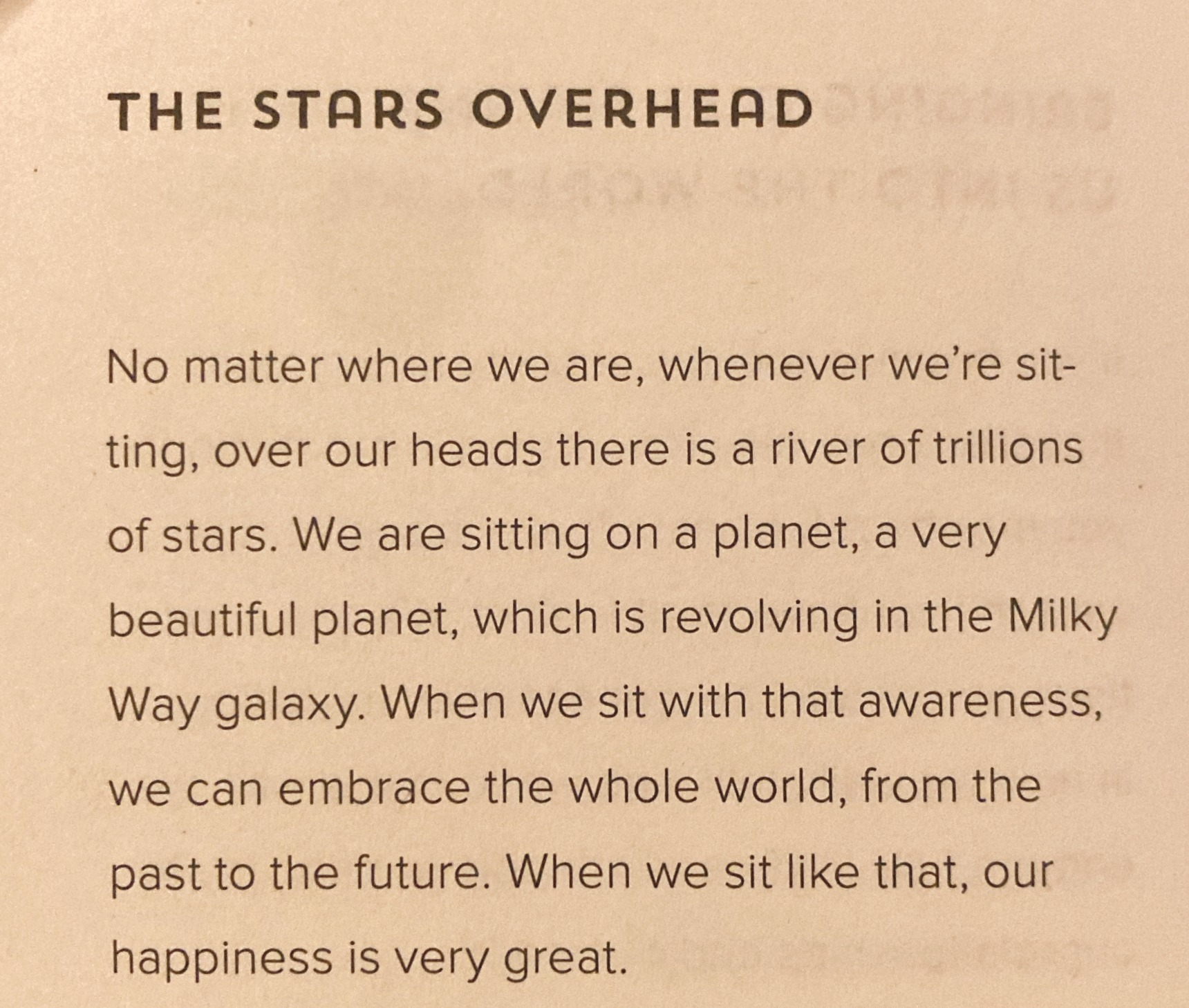 The Stars Overhead