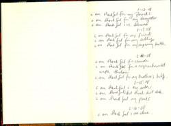 Ntozake Shange journals on gratitude