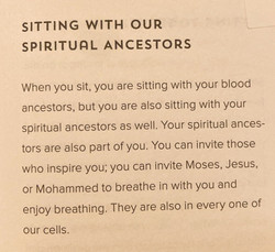 Sitting With Our Spiritual Ancestors
