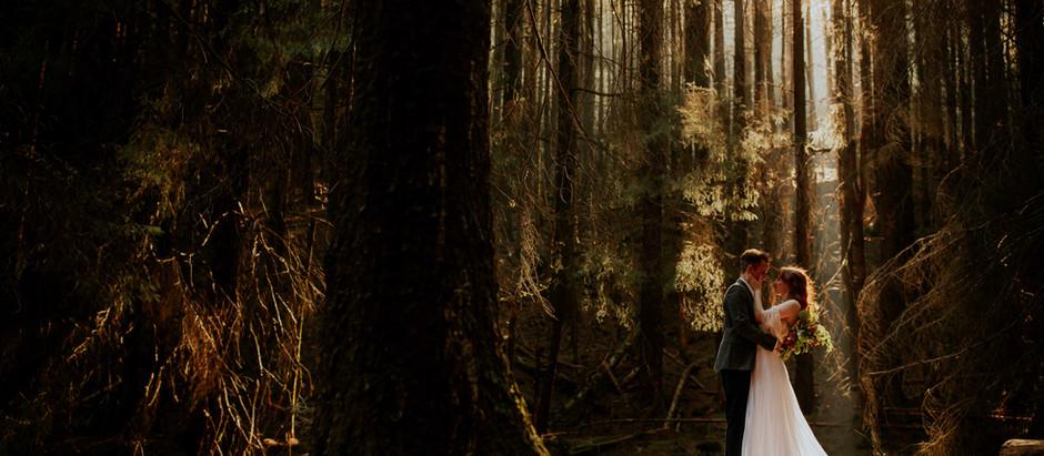 Wild and Intimate Woodland Elopement - Peak District