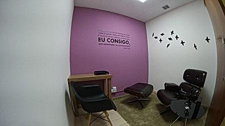 Sala ideal para consultas de Couching, Psicólogos e Psiquiátras.