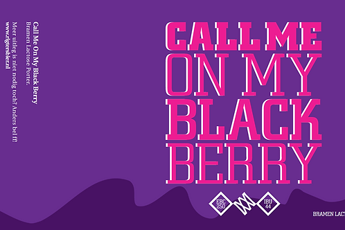 Call Me On My Black Berry (Bramen Lactose Porter)