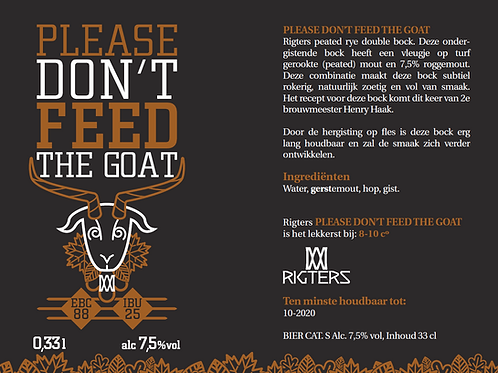 Please don't feed the goat 2019    20L