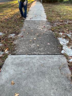 Broken Sidewalk (before)