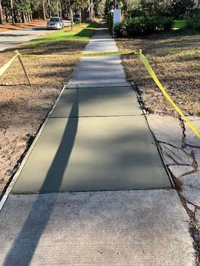 New Sidewalk (after)