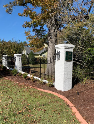 Column & Fence (after)