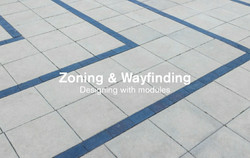 Zoning and wayfinding flooring
