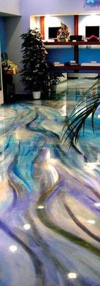 Sleek resin floor