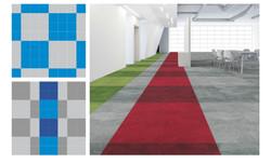 wayfinding zone stripe carpet tile