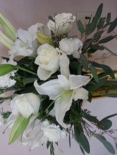 Wilsonsflorist flowers 3 fresh cut flowers all white tall vase 10000 mightylinksfo Gallery