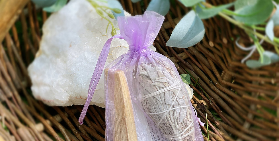 Smudging Bundle with Amethyst