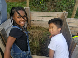Creative composting experiments at the farm