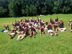 Several students observing a solar eclipse