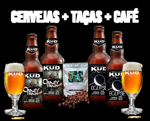 Kit QUERO CAFÉÉÉ!!! - Cervejas com Café + Grãos de Café