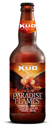 Cerveja Paradise in Flames - Lager com Pimenta - 500 ml