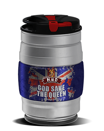 Barrilete 5 Litros chope God save the Queen - Estilo English Pale Ale