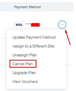 how to cancel a wix account