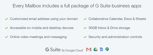 G Suite Mailbox Package