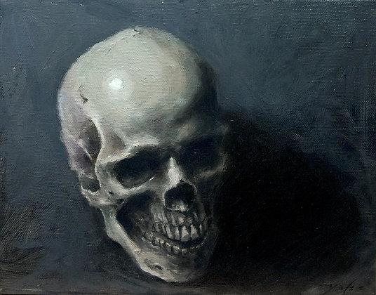 """Still Life Oil Painting 8x10inch """"Skull V"""""""