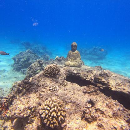 Underwater Buddha Statue