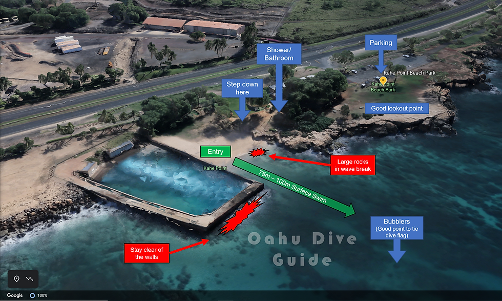 Electric Beach Scuba Dive Map