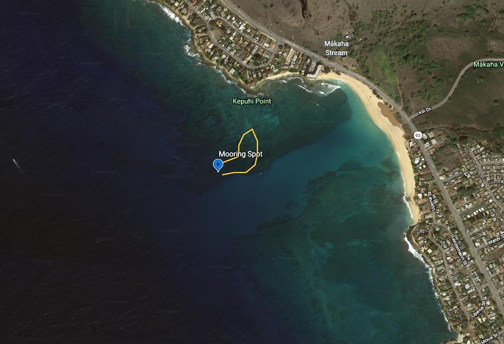 Makaha Caverns Satellite Image