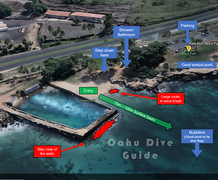 Oahu Dive Guide Map