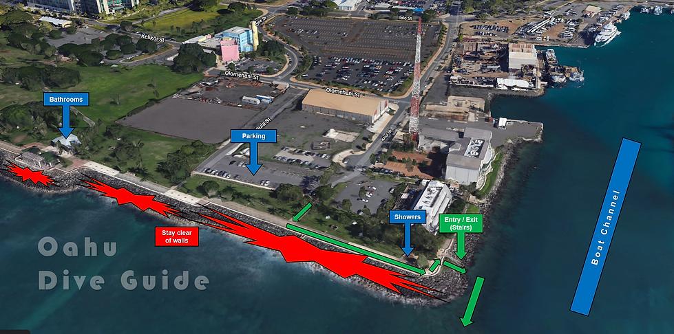Point Panic Scuba Diving Map