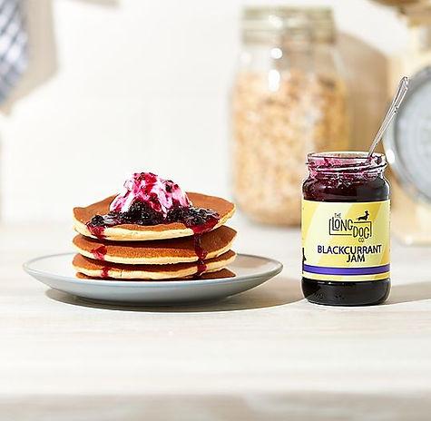 Pancake and blackcurrant jam.jpg