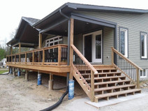 CUSTOM COTTAGE WITH PORCH ROOF