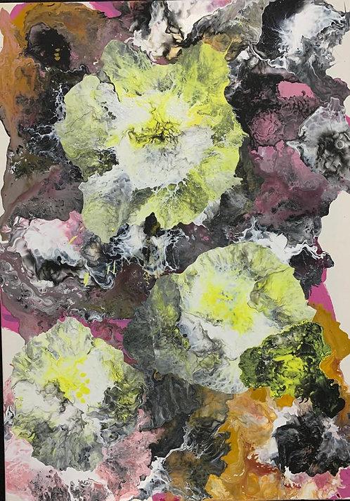 Spring Yellow I y II. 50cm x 70cm