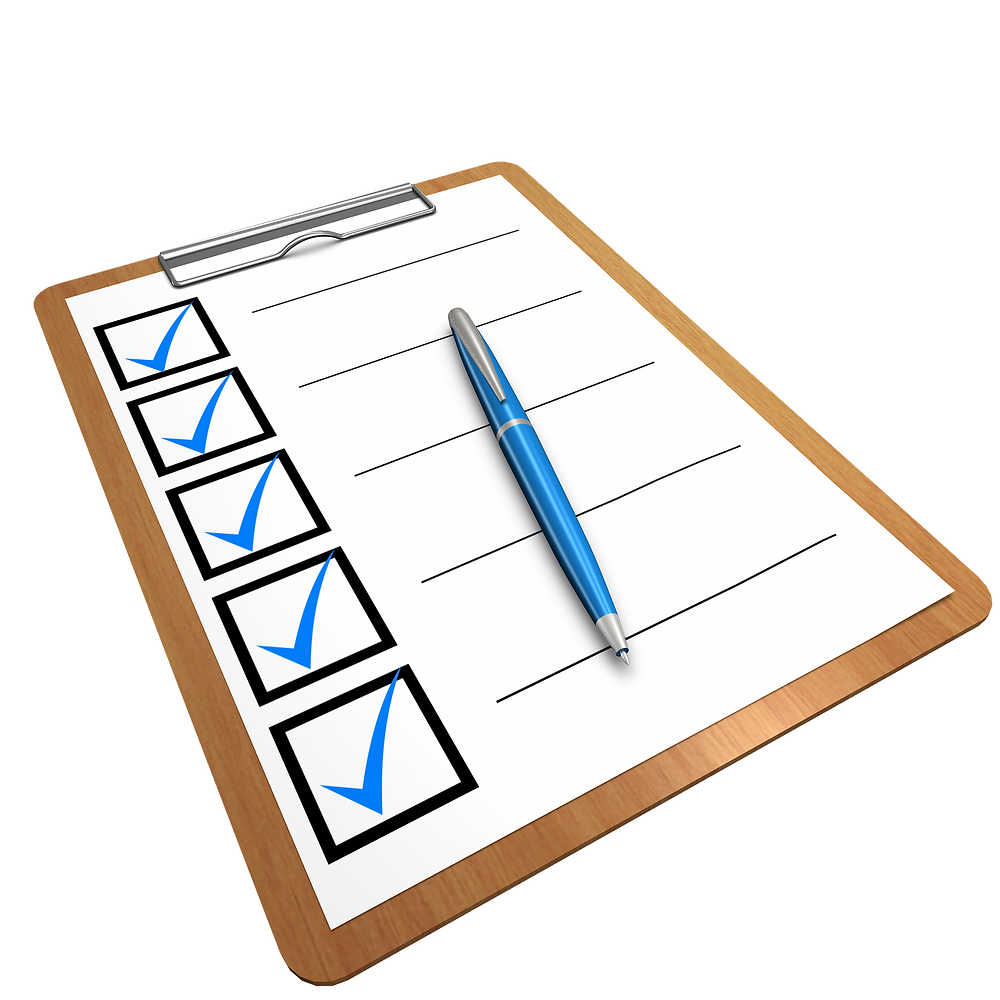 pre-shipping checklist clipboard