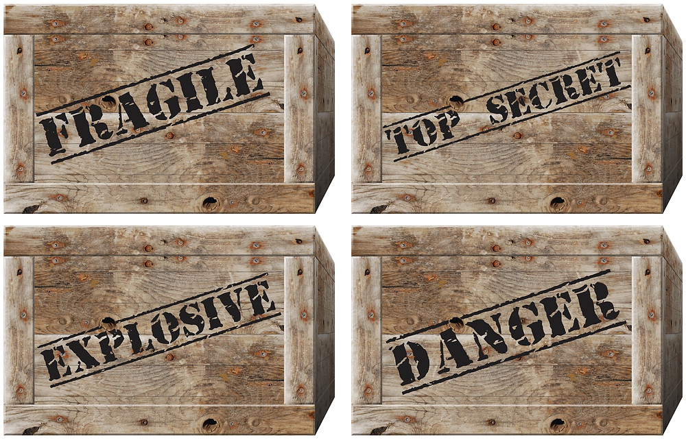 wooden shipping crate labels