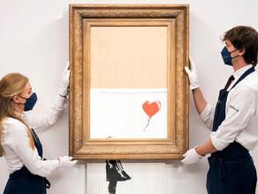 """Banksys """"Love is in the Bin"""" såld för fyra gånger uppskattat pris"""