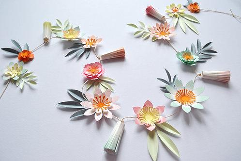 Paper flower garland craft kit