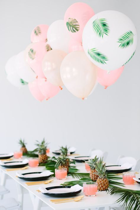 pink tropical balloons