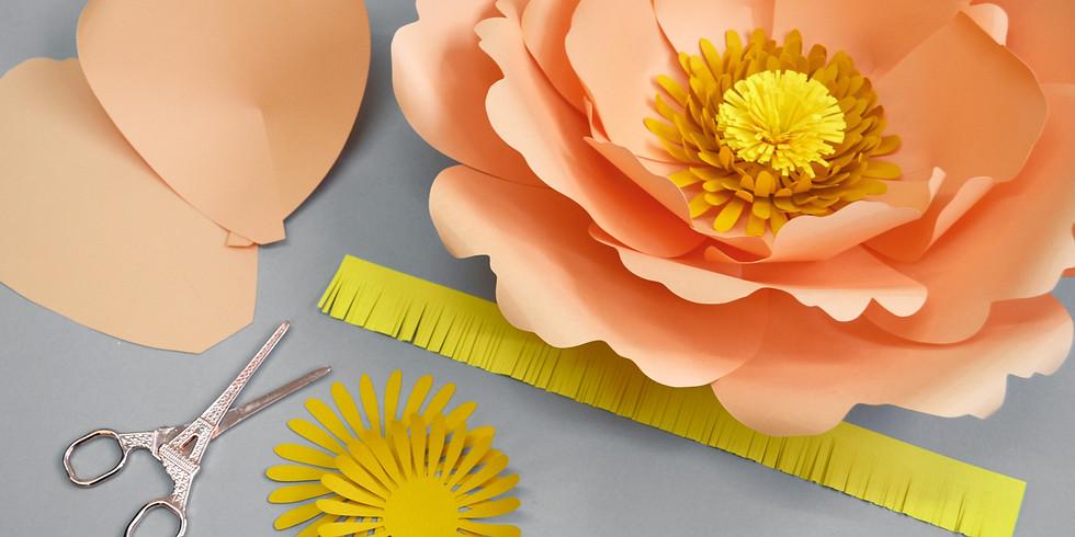 Giant paper flower workshop