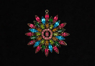 colourful rhinestone decoration