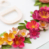 close up of paper flowers