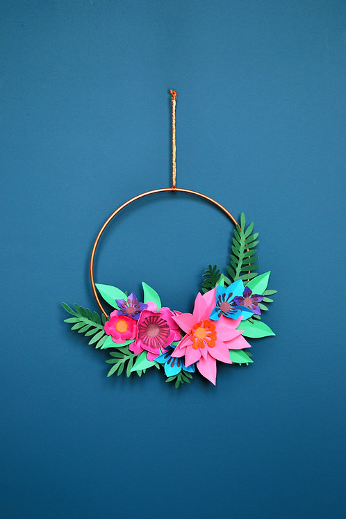 Jewel Tone Mini Copper Hoop Decoration Craft Kit